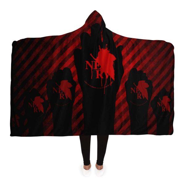 NERV Evangelion Hooded Blanket Official Evangelion Merch