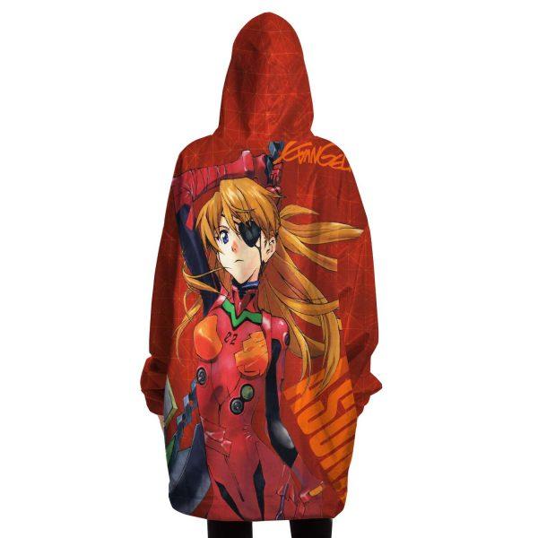New Evangelion Asuka Political Snug Hoodie Official Evangelion Merch