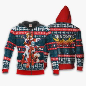 Neon Genesis Evangelion Ugly Christmas Sweater Anime Xmas Gift VA11 Official Evangelion Merch