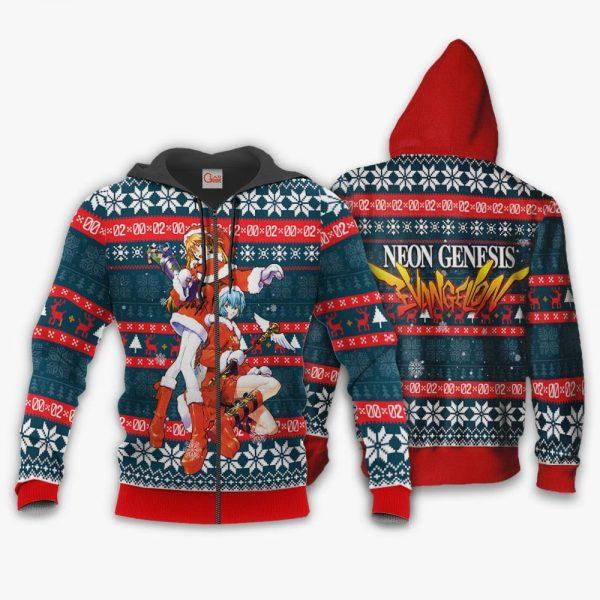 Neon Genesis Evangelion Ugly Christmas Sweater Anime Xmas Gift VA11 Official Evangelion Merch