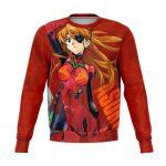 New Evangelion Asuka Political Lady Sweatshirt Official Evangelion Merch