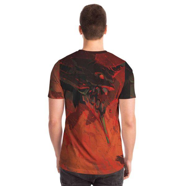 Evangelion Red Black Nigh 3D T-shirt Official Evangelion Merch
