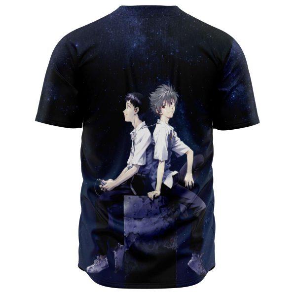 Evangelion Kaworu Nagisa & Shinji Ikari Baseball Jersey Official Evangelion Merch