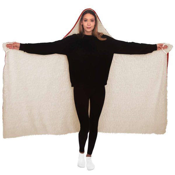 Evangelion Lady Asuka Political Hooded Blanket Official Evangelion Merch