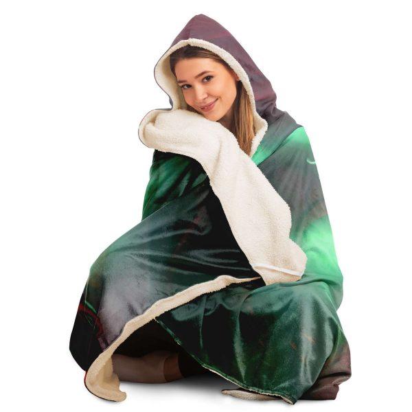 Evangelion Asuka Political 3D Hooded Blanket Official Evangelion Merch