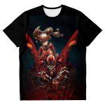 Evangelion Asuka Unit-02 3D T-shirt Official Evangelion Merch