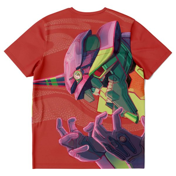 Evangelion Unit-01 Face 3D T-shirt Official Evangelion Merch