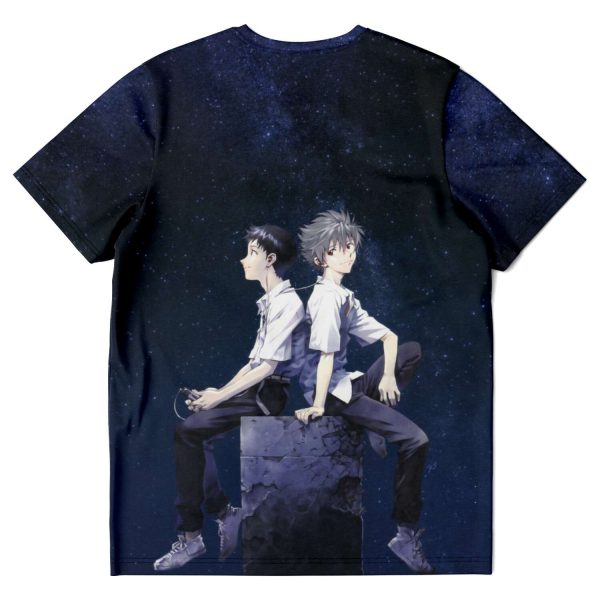 Evangelion Kaworu Nagisa & Shinji Ikari T-shirt Official Evangelion Merch