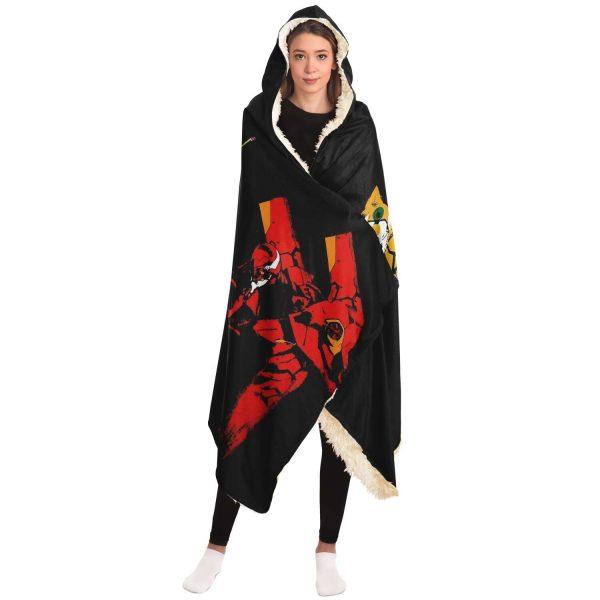 Evangelion Unit-01 EVA 02 EVA 03 Hooded Blanket Official Evangelion Merch