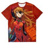 New Evangelion Asuka Political Lady T-shirt Official Evangelion Merch