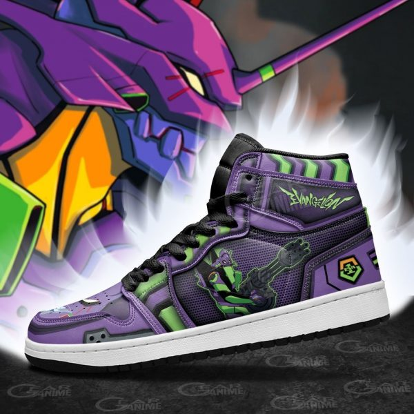 Evangelion Unit-01 Jordan Sneakers Official Evangelion Merch