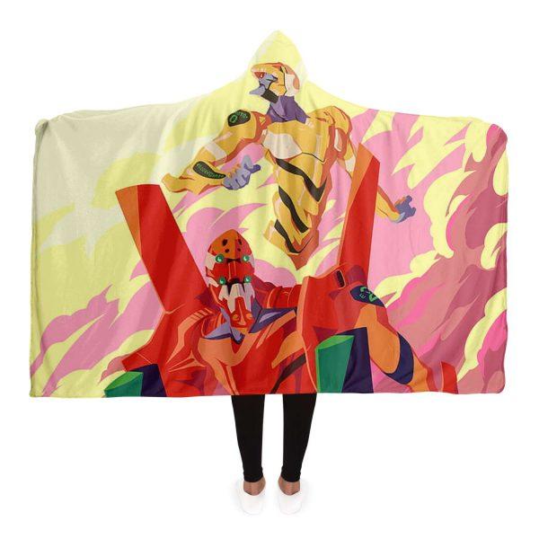 Evangelion Unit-02 3D Hooded Blanket Official Evangelion Merch