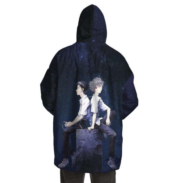 Evangelion Kaworu Nagisa & Shinji Ikari Snug Hoodie Official Evangelion Merch
