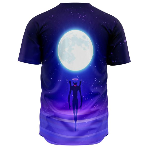 Evangelion Angel Moon Night 3D Baseball Jersey Official Evangelion Merch