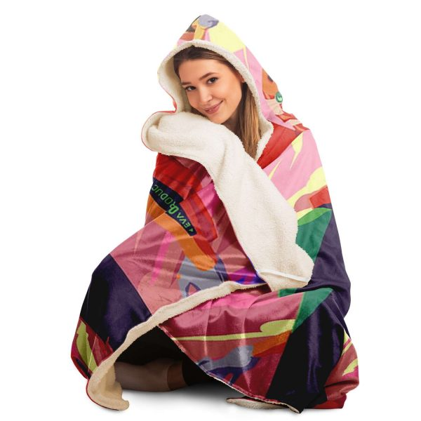 Evangelion Unit-02 Product Hooded Blanket Official Evangelion Merch