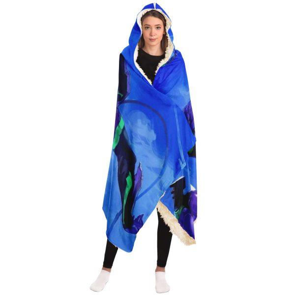 Evangelion Unit-01 Blue Sky Hooded Blanket Official Evangelion Merch