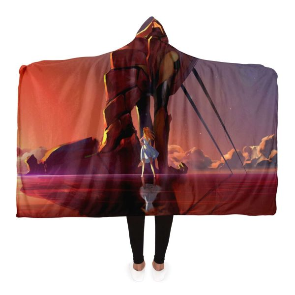 Evangelion Hooded Blanket New Style No.1 Official Evangelion Merch
