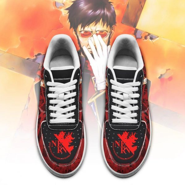 evangelion gendo ikari air force sneakers neon genesis evangelion shoes gearanime 2 - Evangelion Merch