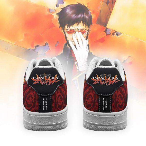 evangelion gendo ikari air force sneakers neon genesis evangelion shoes gearanime 3 - Evangelion Merch