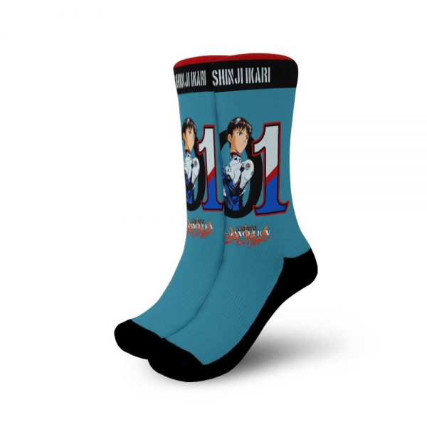 Neon Genesis Evangelion Shinji Ikari Socks Official Evangelion Merch