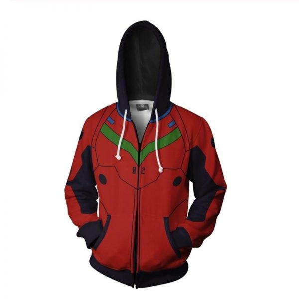 Evangelion Asuka Langley Zipper Jacket Official Evangelion Merch