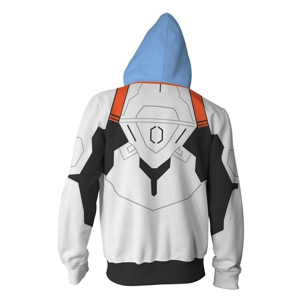 Evangelion Rei Ayanami Hoodie Zipper Jacket Official Evangelion Merch