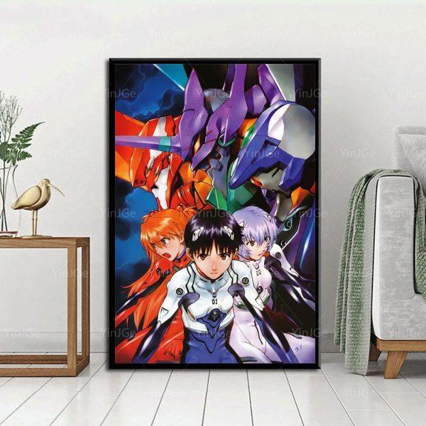 New 3D Evangelion Team Poster Wall Art 2021 Official Evangelion Merch