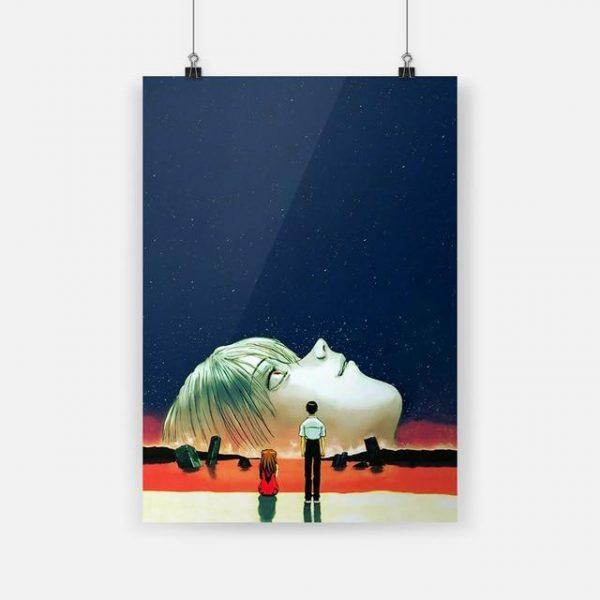 Evangelion Face Rei Ayanami Canvas Wall Art Official Evangelion Merch