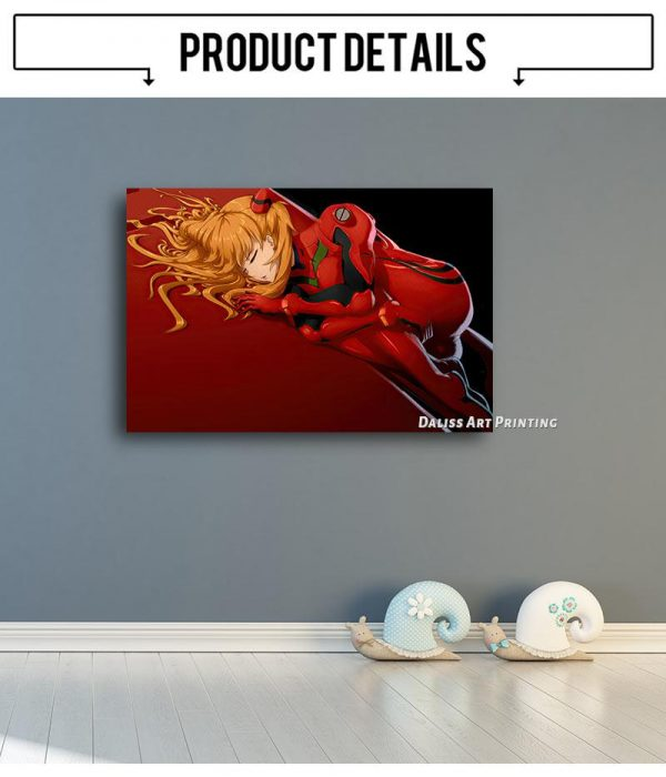 Evangelion Asuka Prints Wall Art Official Evangelion Merch