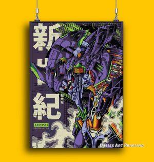 Evangelion Asuka Ayanami Rei Wall Art Official Evangelion Merch
