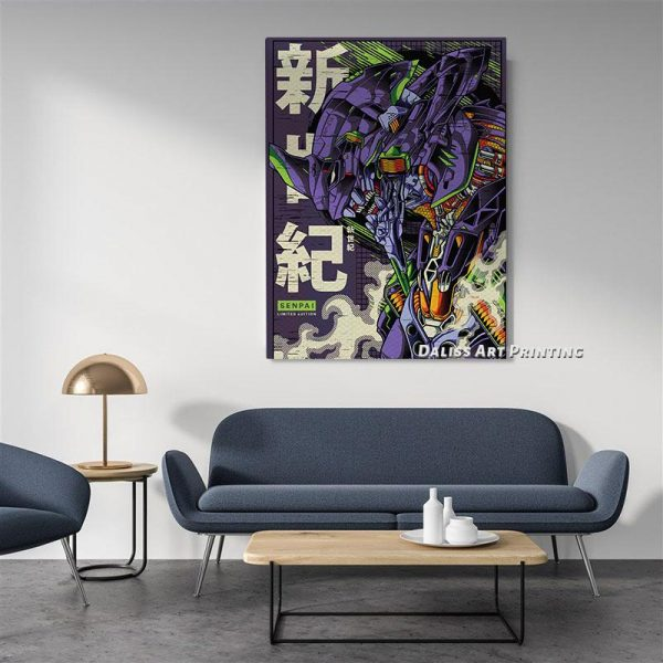 Evangelion Asuka Ayanami Rei Wall Art Official Evangelion Merch