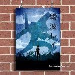 Anime Rei Blue Evangelion Wall Art Official Evangelion Merch
