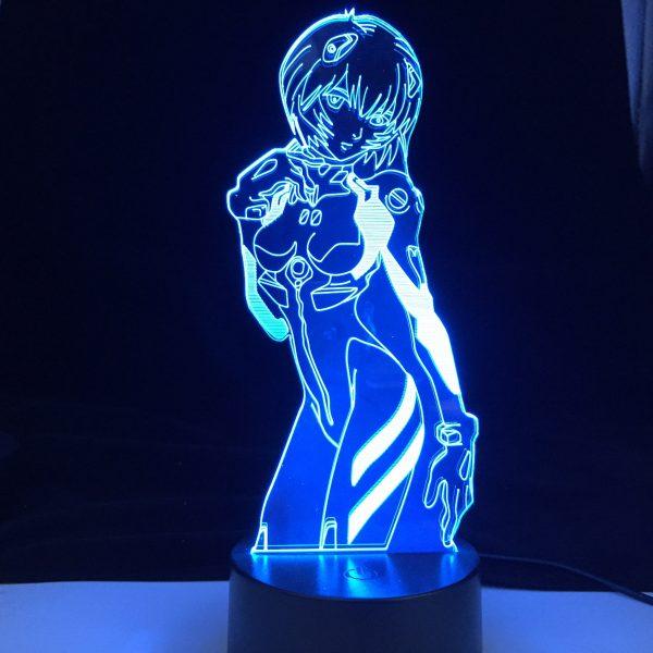 Evangelion Rei Ayanami 3D Lamp Official Evangelion Merch