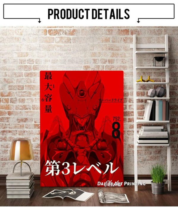 Anime Evangelion Asuka Wall Art Official Evangelion Merch