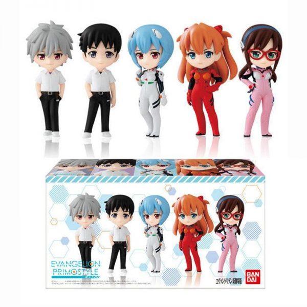 5  Models Original EVA Gashapon Action Figures Official Evangelion Merch