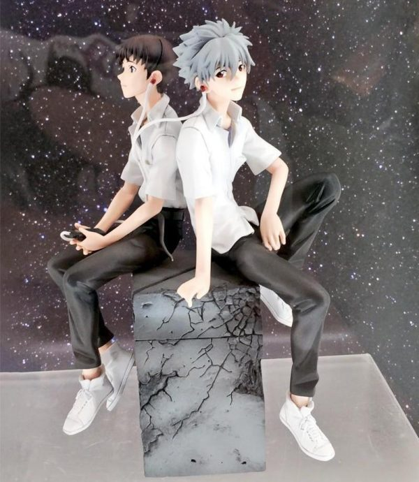 18cm Nagisa Kaworu + Ikari Shinji Figure Model Official Evangelion Merch