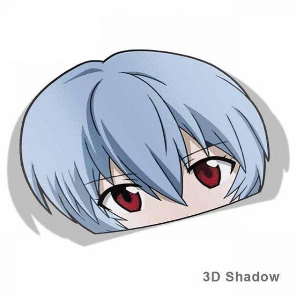 13cm x 9.1cm Evangelion Rei Ayanami Vinyl Car Sticker Official Evangelion Merch