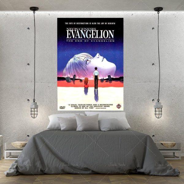 Evangelion Face Rei Ayanami Canvas Painting Picture Wall Art Official Evangelion Merch