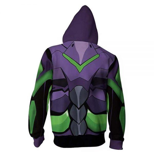 Evangelion Eva Cosplay Hoodie Zipper Jacket Official Evangelion Merch