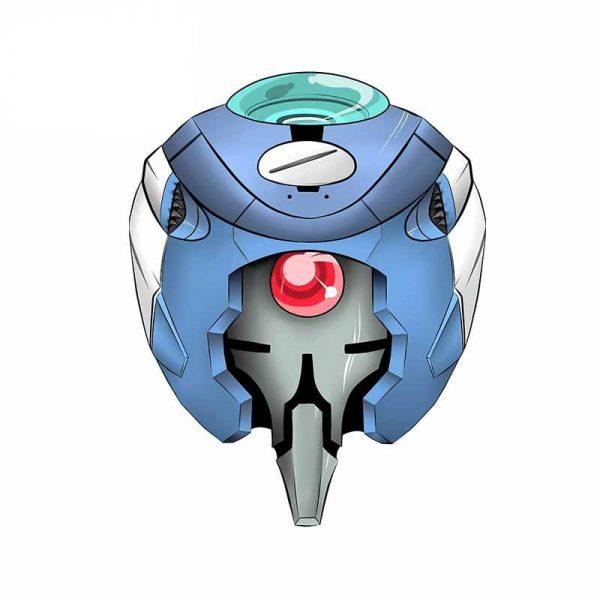 13cm x 10.1cm Evangelion Helmet Avatar Car Stickers Official Evangelion Merch