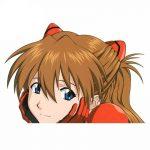 13cm x 9.1cm Asuka Vinyl Car Sticker Waterproof Official Evangelion Merch