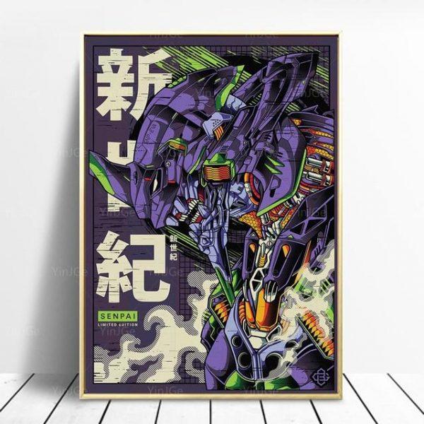 Evangelion Mecha Unit-01 Poster Wall Art Official Evangelion Merch