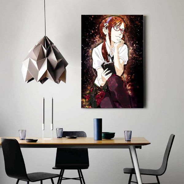 Anime Evangelion Makinami GirlCanvas Painting Wall Art Posters and Prints Wall Pictures for Living Room Decoration 2 - Evangelion Merch