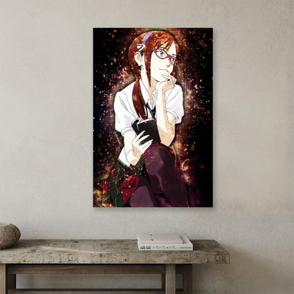 Anime Evangelion Makinami GirlCanvas Painting Wall Art Posters and Prints Wall Pictures for Living Room Decoration 3 - Evangelion Merch