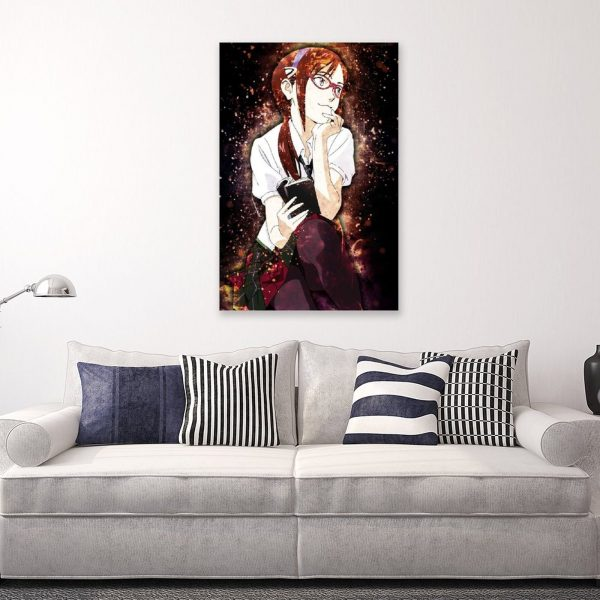 Anime Evangelion Makinami GirlCanvas Painting Wall Art Posters and Prints Wall Pictures for Living Room Decoration 4 - Evangelion Merch