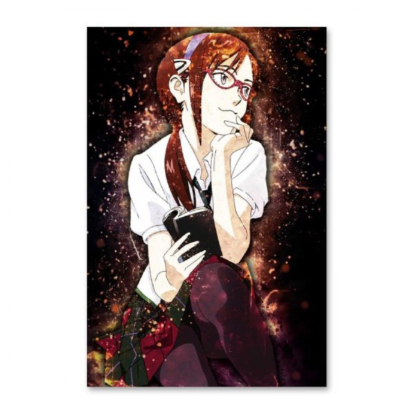 Anime Evangelion Makinami GirlCanvas Painting Wall Art Posters and Prints Wall Pictures for Living Room Decoration - Evangelion Merch