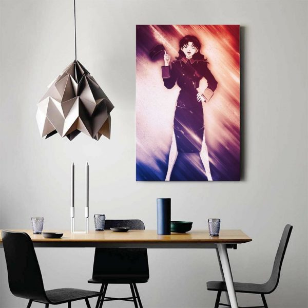 Anime Misato Evangelion GirlCanvas Painting Wall Art Posters and Prints Wall Pictures for Living Room Decoration 2 - Evangelion Merch