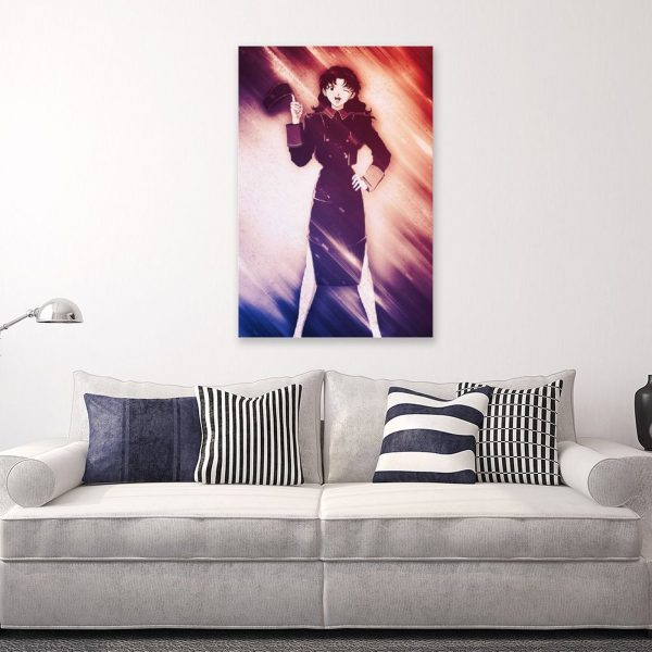 Anime Misato Evangelion GirlCanvas Painting Wall Art Posters and Prints Wall Pictures for Living Room Decoration 4 - Evangelion Merch