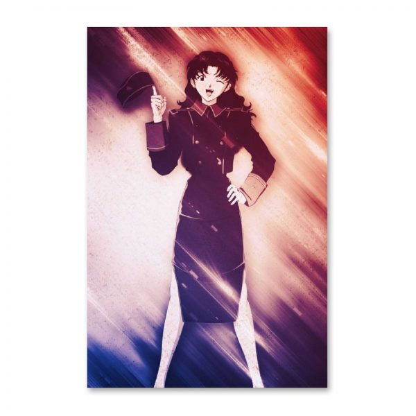 Anime Misato Evangelion GirlCanvas Painting Wall Art Posters and Prints Wall Pictures for Living Room Decoration - Evangelion Merch