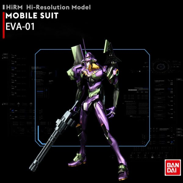 BANDAI 1 144 Metal Coloring EVA 01 HIRM Hi resolution Model Neon Genesis Evangelion Assembled Robot 1 - Evangelion Merch